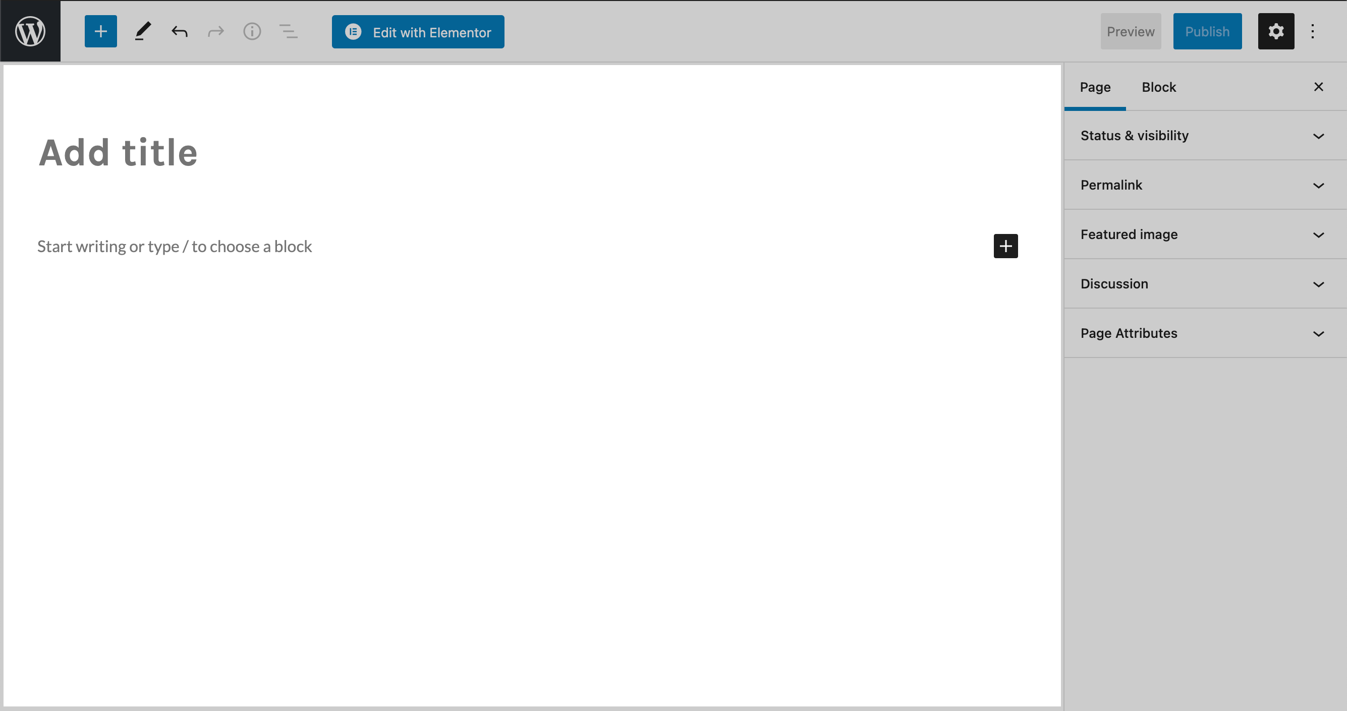 Screenshot of the content editor